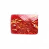 Resin Sew-on Dichroic Style 10pcs 15x21mm Rectangle Red